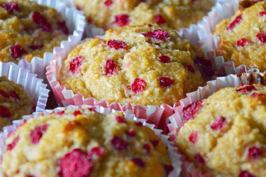 Framboos kokos muffins