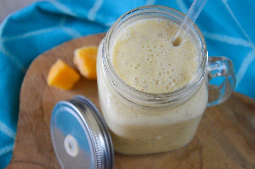 Mango pindakaas smoothie