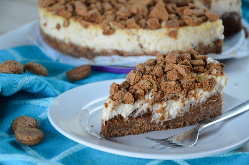 Speculaas cheesecake met pepernotencrumble