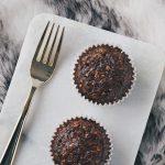 Chocolade havermout ontbijtmuffins