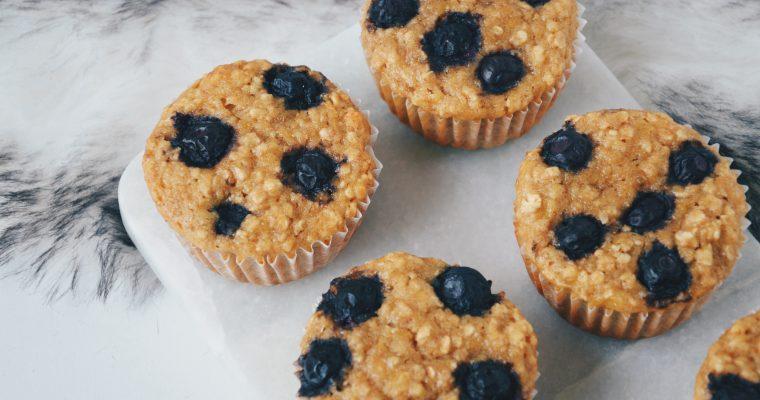 (Nederlands) Banaanmuffins met blauwe bessen
