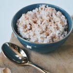 Rijstepap met kokosmelk en kaneel